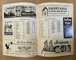 Vintage 1963 Afl NFL New York Jets @ Buffalo Bills Football Program Dec 8