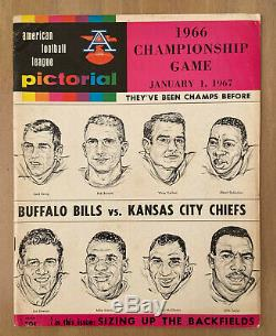 Vintage 1966 Afl NFL Championship Program Kansas City Chiefs @ Buffalo Bills