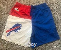 Vintage 90's Mens Medium Apex One Buffalo Bills NFL Licensed Colorblock Shorts