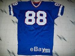 Vintage Game Used Worn Buffalo Bills Football Jersey Pete Metzelaars Customized