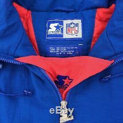 Vintage Starter Buffalo Bills NFL Football Pullover Jacket 90s Rare Mens Large