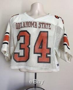 Vtg 80s Thurman Thomas Oklahoma State Jersey White M Football Buffalo Bills